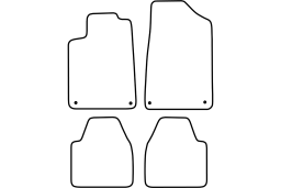 Peugeot 607 1999-2012 4d car mat set (PEU167MV)