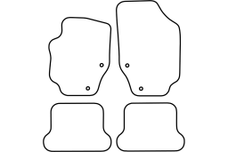 Peugeot 307CC 2003-2009 car mat set (PEU237MV)