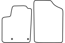 Peugeot Partner I 2004-2008 car mat set (PEU2PAMV)