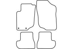 Peugeot 207CC 2006-2014 car mat set (PEU327MV)
