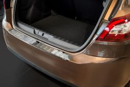 Peugeot 308 II 2013-> 5-door hatchback rear bumper protector stainless steel (PEU338BP) (1)