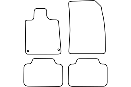 Peugeot 407 Coupe 2005-2009 car mat set (PEU347MV)