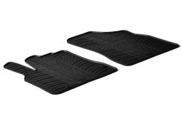 Peugeot Partner II (B9) 2008-2018 car mats set anti-slip Rubbasol rubber (PEU3PAFR)