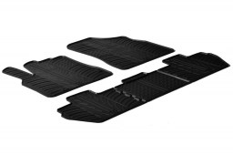 Peugeot Partner II (B9) 2008-2018 car mats set anti-slip Rubbasol rubber (PEU4PAFR)