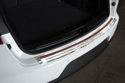 Porsche Macan (95B) 2014-> rear bumper protector stainless steel high gloss - carbon (POR8MABP) (1)