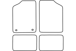 Renault 5 1972-1985 3d & 5d car mat set (REN105MV)