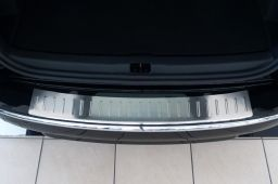 Renault Clio IV Estate - Grandtour 2013-> wagon rear bumper protector stainless steel (REN1CLBP) (2)