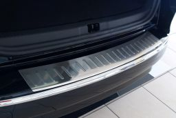 Renault Clio IV Estate - Grandtour 2013-> wagon rear bumper protector stainless steel (REN1CLBP) (4)