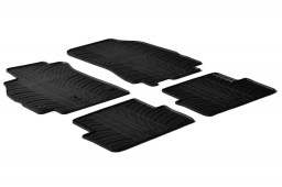 Renault Fluence 2009-2011 4-door saloon car mats set anti-slip Rubbasol rubber (REN1FLFR)