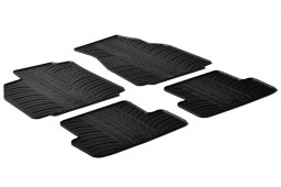 Renault Mégane II 2002-2008 4-door saloon car mats set anti-slip Rubbasol rubber (REN1MEFR)