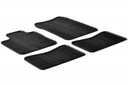 Renault Twingo II 2007-2014 3-door hatchback car mats set anti-slip Rubbasol rubber (REN1TWFR)