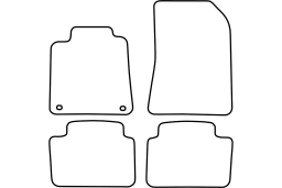 Renault Vel Satis 2002-2009 5d car mat set (REN1VSMV)