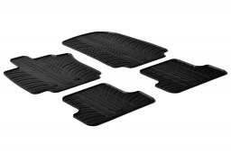 Renault Clio III 2005-2012 3 & 5-door hatchback car mats set anti-slip Rubbasol rubber (REN2CLFR)