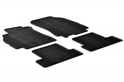 Renault Mégane III 2008-2016 5-door hatchback car mats set anti-slip Rubbasol rubber (REN3MEFR)