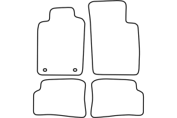 Renault Megane I Coupe 1996-2002 car mat set (REN3MEMV)
