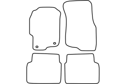 Rover 400 (HH-R) 1995-1999 4d & 5d car mat set (ROV140MV)