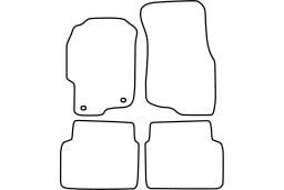 Rover 45 1999-2004 4d & 5d car mat set (ROV145MV)