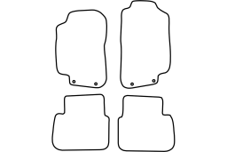 Saab 9-5 1998-2008 4d & wagon car mat set (SAA195MV)