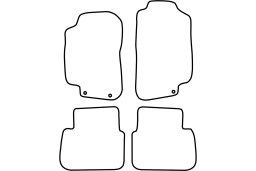 Saab 9-5 2008-2010 4d & wagon car mat set (SAA295MV)