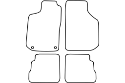 Saab 900 II 1993-1998 3d & 5d car mat set (SAA490MV)