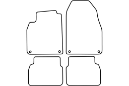 Saab 9-3 2008-2014 4d car mat set (SAA693MV)