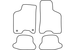 Seat Arosa 1998-2005 3d car mat set (SEA1ARMV)
