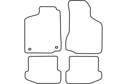 Seat Ibiza (6K) 1997-1999 3d & 5d car mat set (SEA2IBMV)