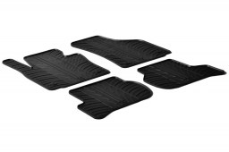 Seat Leon (1P) 2005-2012 5-door hatchback car mats set anti-slip Rubbasol rubber (SEA2LEFR)