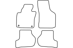 Seat Leon (1P) 2005-2009 5d car mat set (SEA2LEMV)