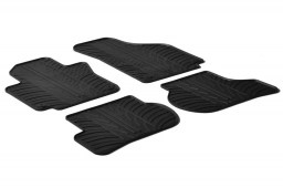 Seat Toledo (5P) 2005-2009 5-door hatchback car mats set anti-slip Rubbasol rubber (SEA2TOFR)