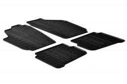 Seat Ibiza (6L) 2002-2008 3 & 5-door hatchback car mats set anti-slip Rubbasol rubber (SEA3IBFR)