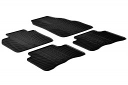 Seat Leon (5F) 2012-present 5-door hatchback car mats set anti-slip Rubbasol rubber (SEA3LEFR)