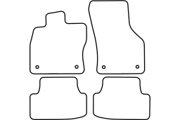 Seat Leon (5F) 2012- 3d & 5d car mat set (SEA4LEMV)