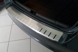 Rear bumper protector Skoda Rapid (NH3) 2012-2019 5-door hatchback stainless steel (SKO1RABA) (1)