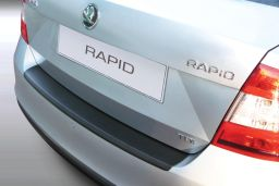 Skoda Rapid (NH3) 2012-> 5-door hatchback rear bumper protector ABS (SKO8RABP)