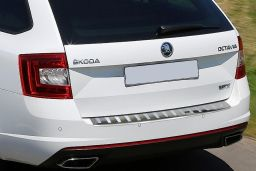 Skoda Octavia III RS Combi (5E) 2013-> wagon rear bumper protector stainless steel high gloss (SKO9OCBP) (1)