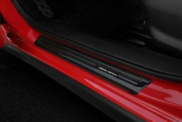 Door sill plates Subaru XV II 2017-present stainless steel high gloss black 4 pieces (SUB1XVEG) (2)