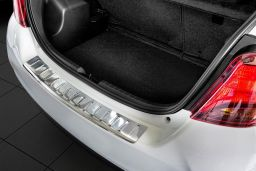 Toyota Yaris III 2014-> 3 & 5-door hatchback rear bumper protector stainless steel (TOY13YABP) (1)