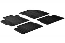 Toyota Auris I 2006-2012 3 & 5-door hatchback car mats set anti-slip Rubbasol rubber (TOY1AUFR)