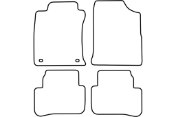 Toyota Land Cruiser (J90) 1996-2003 car mat set (TOY1LAMV)