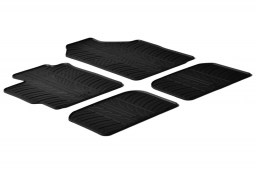 Toyota Yaris II 2005-2011 3 & 5-door hatchback car mats set anti-slip Rubbasol rubber (TOY1YAFR)