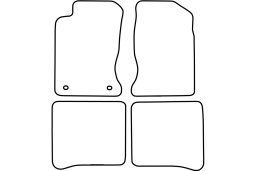 Toyota Carina E 1993-1997 4d & 5d & wagon car mat set (TOY2CRMV)