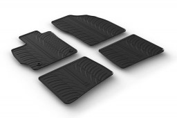 Toyota Prius III (XW30) 2012-2015 5-door hatchback car mats set anti-slip Rubbasol rubber (TOY2PRFR)