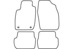 Toyota Starlet (P9) 1996-1999 3d & 5d car mat set (TOY2STMV)