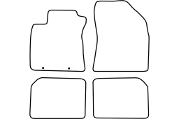Toyota Avensis III 2008-2012 4d & wagon car mat set (TOY4AVMV)