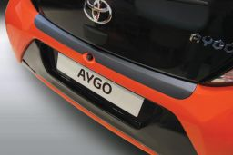 Toyota Aygo II 2014-> 3 & 5-door hatchback rear bumper protector ABS (TOY5AYBP)