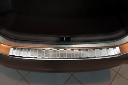 Toyota Corolla (E170) 2016-> 4-door saloon rear bumper protector stainless steel (TOY7COBP) (1)