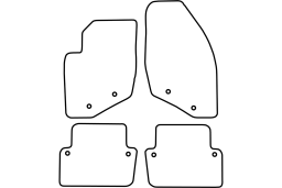 Volvo S80 I 1998-2006 4d car mat set (VOL1S8MV)