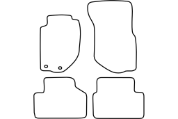 Volvo V90 - S90 1996-1998 4d & wagon car mat set (VOL294MV)