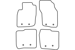 Volvo S40 I 2000-2004 4d car mat set (VOL2S4MV)